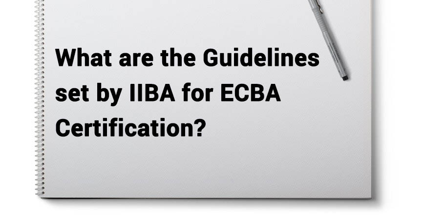 Iiba Guidelines For Ecba Certification Training Ecba Certification